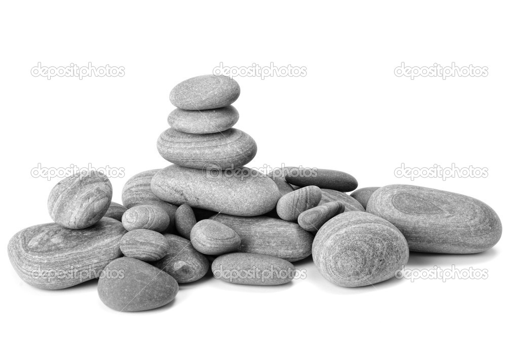 Zen stones  on the white — Stock Photo #9689583