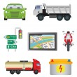Royalty-Free Stock Vector Image: Transport icons