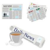 Newspapers — Stock Vector