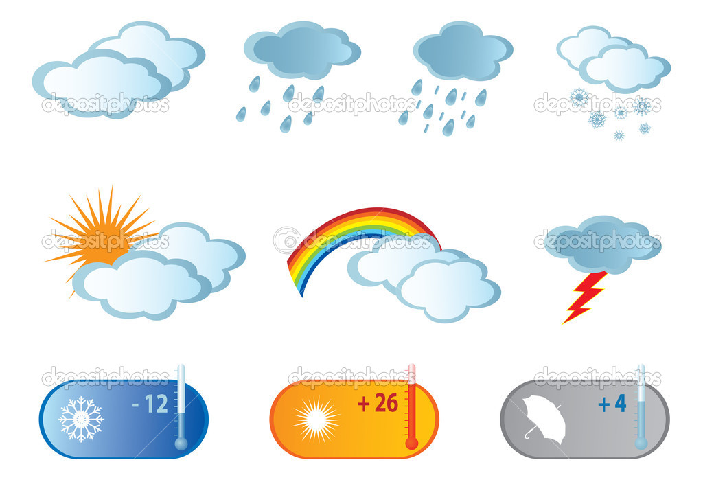 Weather Icons. Vector illustration for you design — Stock Vector #8807917