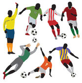 Soccer players — Stock Vector
