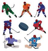 Ice hockey set — Stock Vector