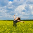 Royalty-Free Stock Photo: Happy girl in field