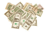 Dollars on white background — Stock Photo