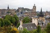 Edinburgh vista from Calton Hill including Edinburgh Castle, Bal — Stock Photo