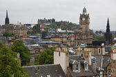 Edinburgh vista from Calton Hill including Edinburgh Castle, Bal — Stock fotografie
