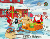 Santa Claus helpers — Stock Photo