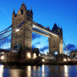 Evening Tower Bridge, London, UK — Stock Photo