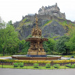 Edinburgh Castle, Scotland, from Princes Street Gardens, with th — Stock Photo #8203176
