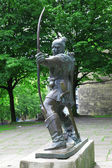 Statue Of Robin Hood at Nottingham Castle, Nottingham, UK — Stock Photo