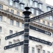 London Street Signpost with Zoo, Regent's Park, Wallace Collecti — Stock Photo