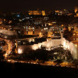 Night in old city Jerusalem, Temple Mount with Al-Aqsa Mosque, v — Stock Photo