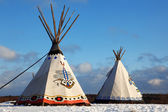 Classic native Indian tee-pee — Stockfoto