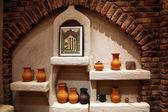Traditional arabic clay pot — Stock Photo