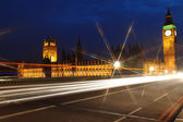 Big Ben and the House of Parliament at night, London, UK — ストック写真