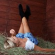 Young country woman relaxing — Stock Photo