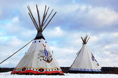 Classic native Indian tee-pee — Foto de Stock