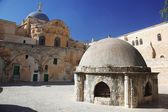 Place at Dome on the Church of the Holy Sepulchre in Jerusalem — Stock Photo