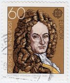 Gottfried Wilhelm Leibniz, philosopher — Stock Photo