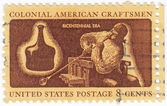 USA colonial glassblower — Stock Photo