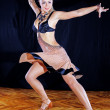 Woman dancer in ballroom — Stock Photo