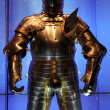 Armor Knight in Tower, London, UK - Stock Photo