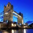 Evening Tower Bridge, London, UK — Stock Photo #9504116
