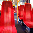 Vacant seats inside a train — Stock Photo