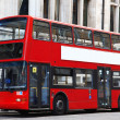 Stock Photo: London Double decker red bus