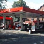 Modern benzin istasyonu — Stok fotoğraf