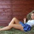 Young country woman relaxing — Stock Photo #9676396