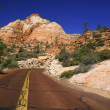 Stock Photo: Classic nature of Americ- Road in Zion NP, Utah, USA