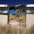 Rusty abandoned vintage USA gas station — Stock Photo #9799751