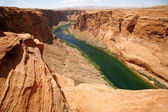 Classic nature of America - Colorado river close to Glen canyon — Stock Photo