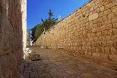 Jerusalem old city wall at Zion Gate — Stock Photo