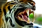 Wonderful illustration with tigers face — Stock Photo