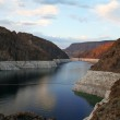 Lake in canyon at Hoover Dam, Nevada, USA — Stock Photo #9898746
