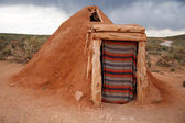 Hogan -Navajo native indian house — Zdjęcie stockowe