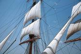 Sail of old ship — Stock Photo