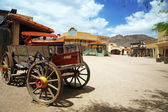 Antique american cart in old western city , Arizona, USA — Stock Photo