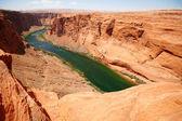 Classic nature of America - Colorado river close to Glen canyon — Stock Photo