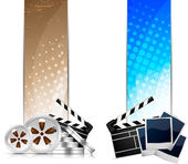 Set of banners with cinema element — Stock Vector