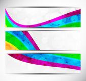 Set of rainbow banners — Stock Vector