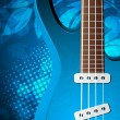 Background with guitar — Stock Vector #10320786