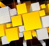 Background wiht 3d cubes — Stock Vector