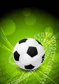 Abstract green background with ball — Vecteur
