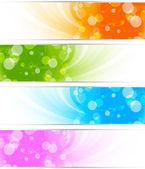 Set di banner luminosi — Vettoriale Stock