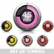 Stock Vector: Set of timers
