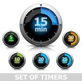 Uppsättning av timers — Stockvektor