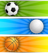 Set of sport banners — Stock Vector